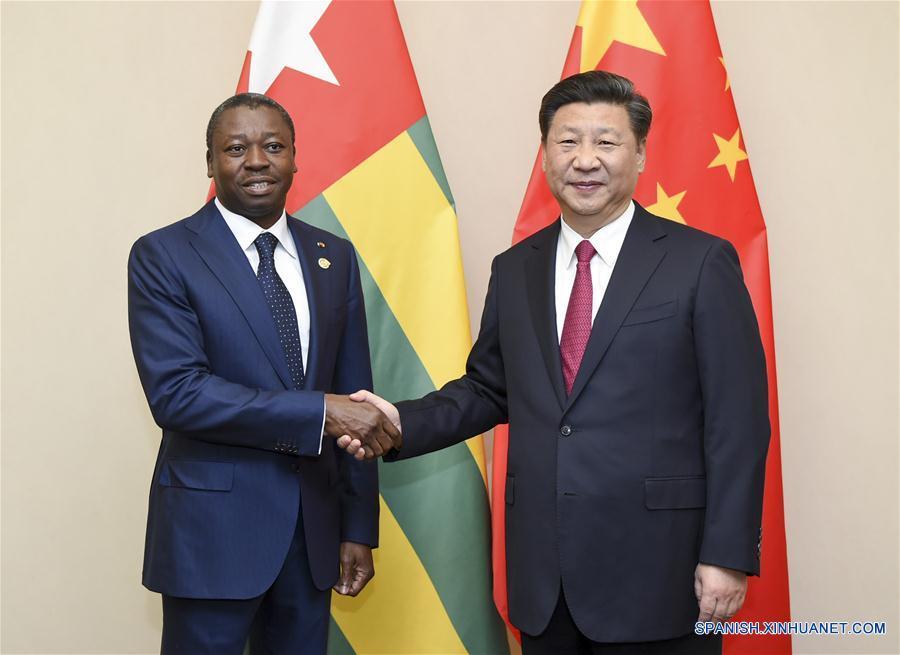Presidente chino promete impulsar lazos con Togo