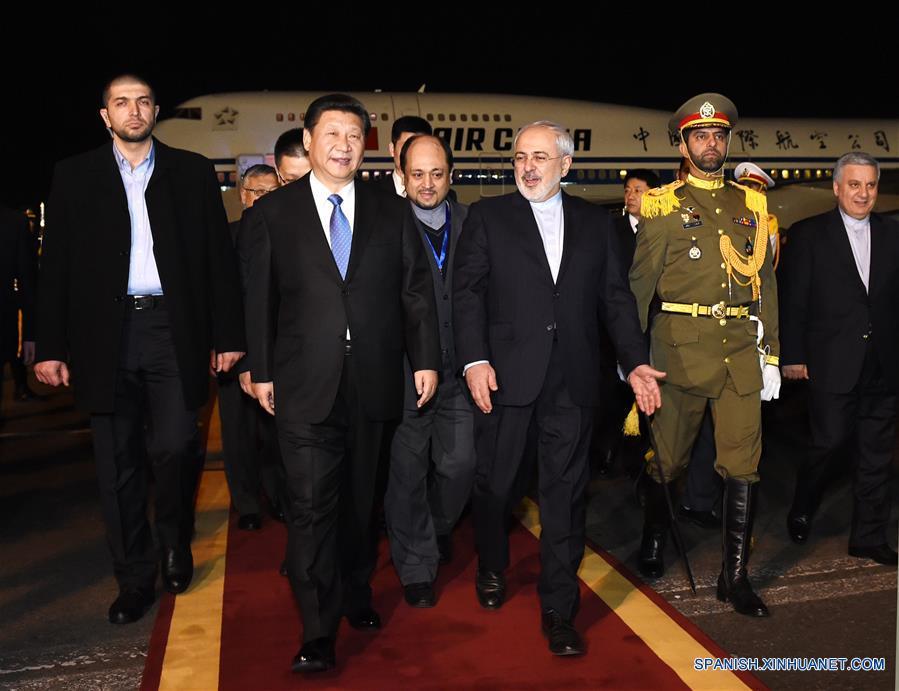 Presidente Xi llega a Irán para realizar visita de Estado