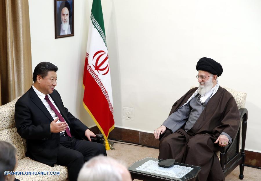 Presidente chino se reúne con líder supremo de Irán