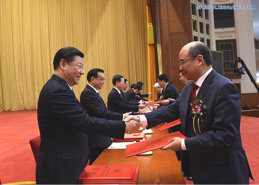 China reconoce a prominentes científicos y destaca innovación