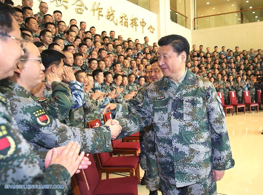 Presidente chino inspecciona centro de comando de batalla conjunto