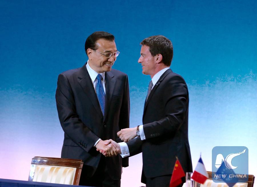 Premieres de China y Francia analizan cómo impulsar lazos y cooperación bilaterales
