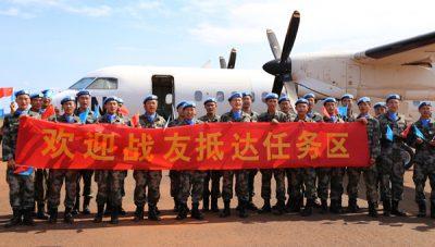 cascos azules china
