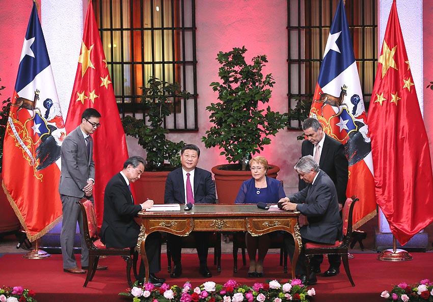 China y Chile elevan relaciones bilaterales a asociación estratégica integral