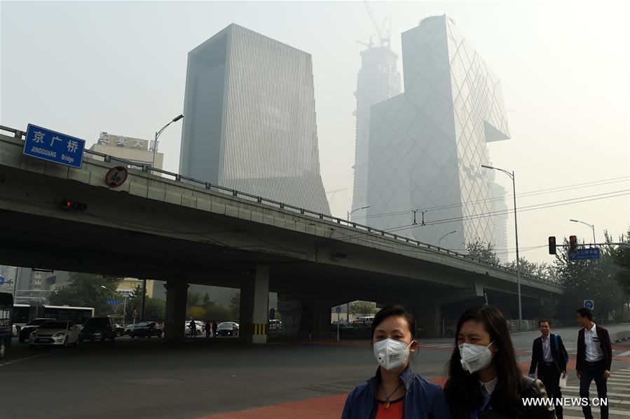 Beijing emitirá alerta naranja por fuerte contaminación atmosférica