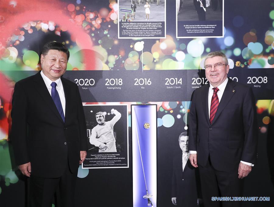 """ESPECIAL: Presidente de COI califica a Xi de """"verdadero campeón olímpico"""""""