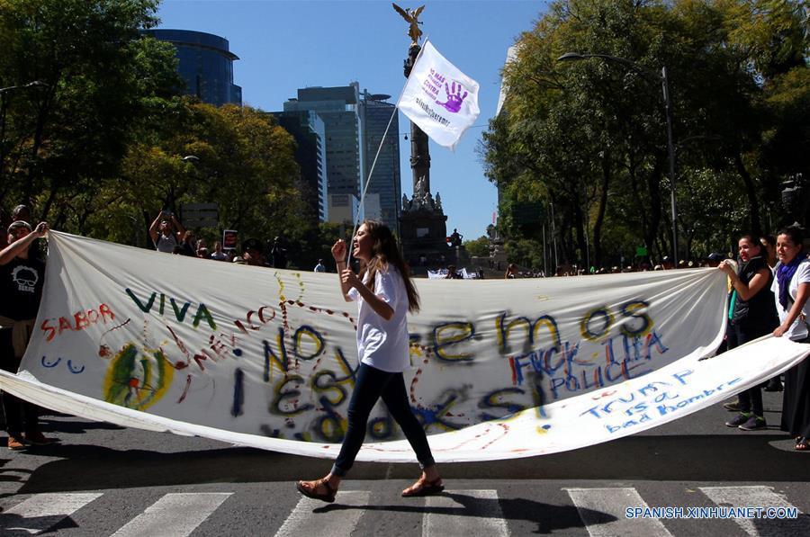 """Mexicanas replican """"Marcha de las Mujeres"""" contra Trump con dos protestas en el país"""