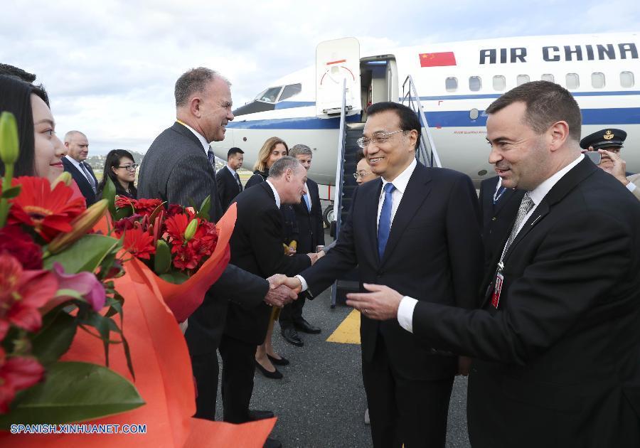 Primer ministro chino llega a Nueva Zelanda en visita oficial