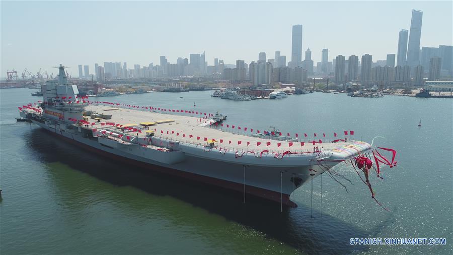 Enfoque de China: China bota su primer portaaviones de fabricación nacional