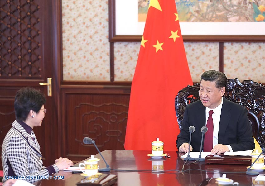 Presidente chino se reúne con la nueva jefa ejecutiva de RAE de Hong Kong