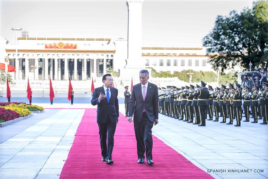 PM chino espera apoyo de Singapur a ferrocarril de alta velocidad