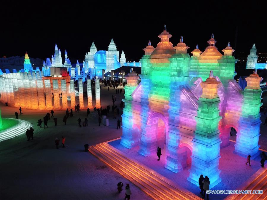 """Harbin, """"ciudad del hielo"""" de China, recibe récord de visitantes por aire en 2018"""
