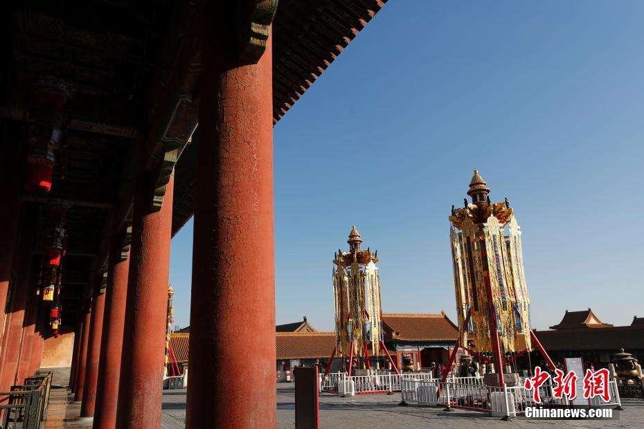 Antiguos faroles reales iluminan la Ciudad Prohibida por el año nuevo chino