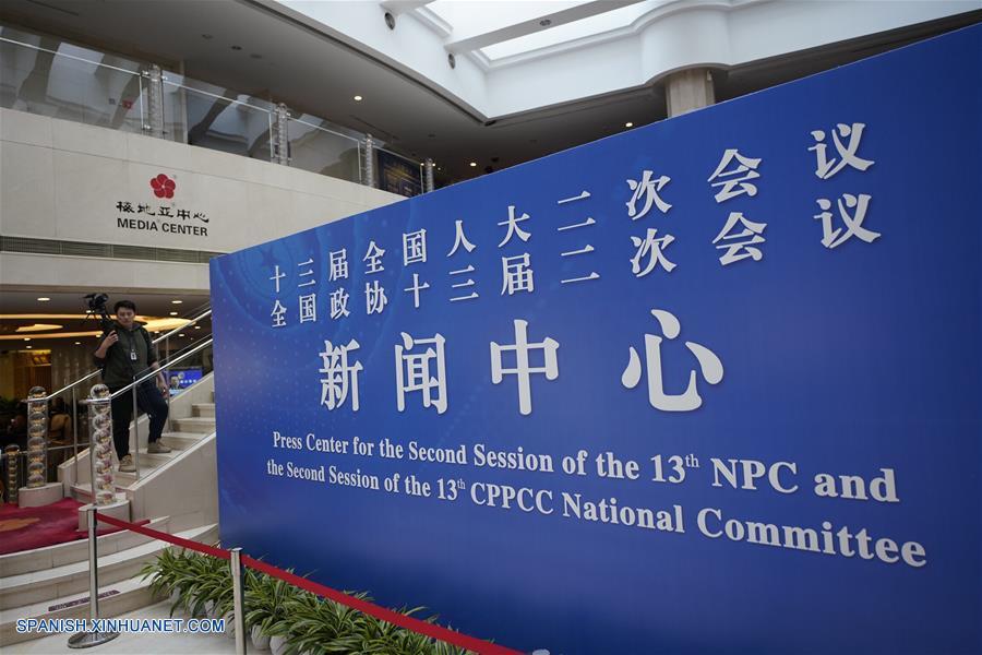 Más de 3 mil periodistas cubrirán reuniones políticas anuales de China