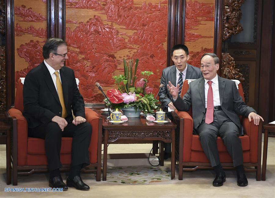 Vicepresidente chino se reúne con canciller de México