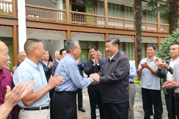 Xi Jinping realiza una visita de inspección en centro de China