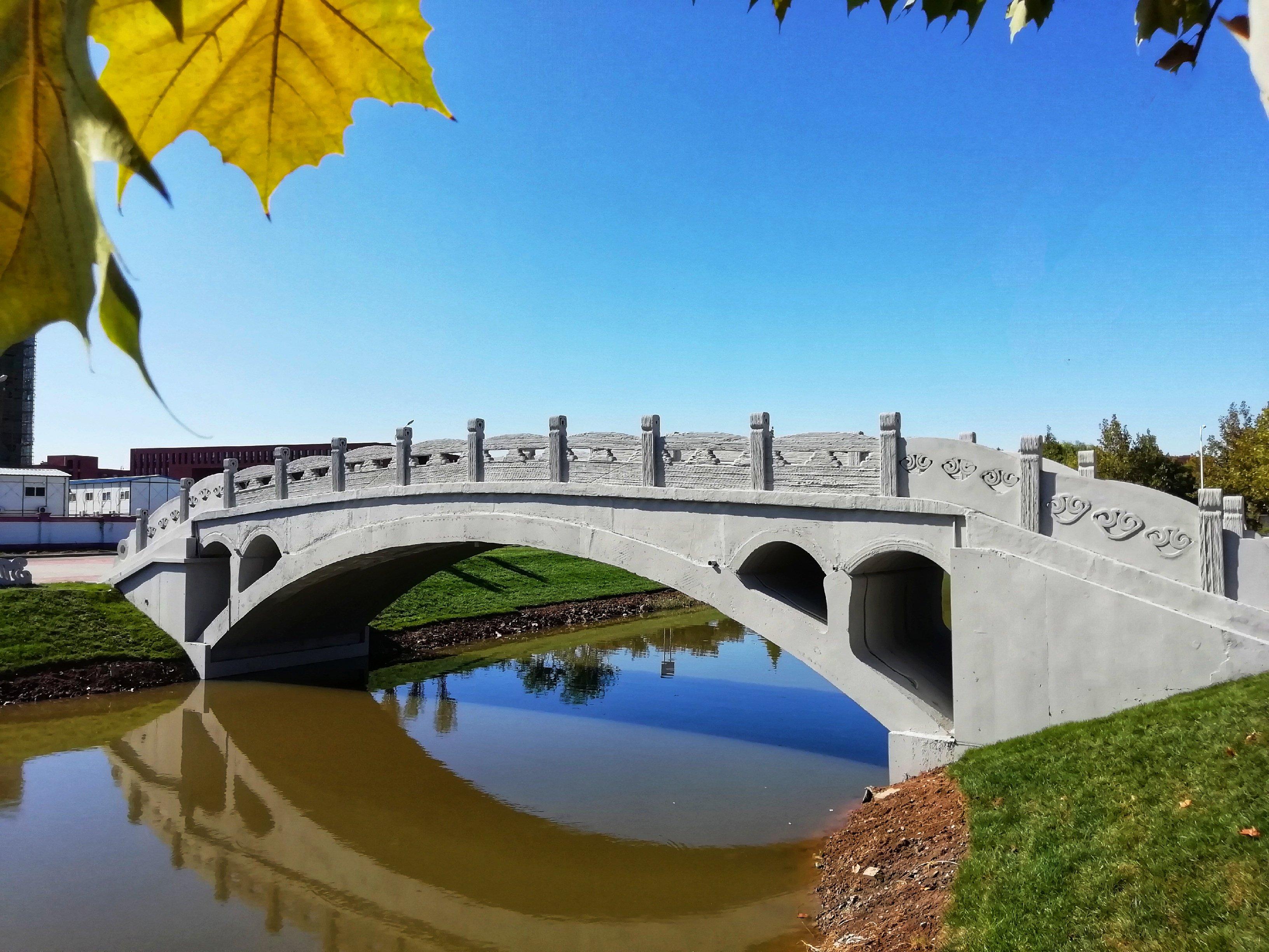 Construyen puente de hormigón impreso en 3D en el norte de China