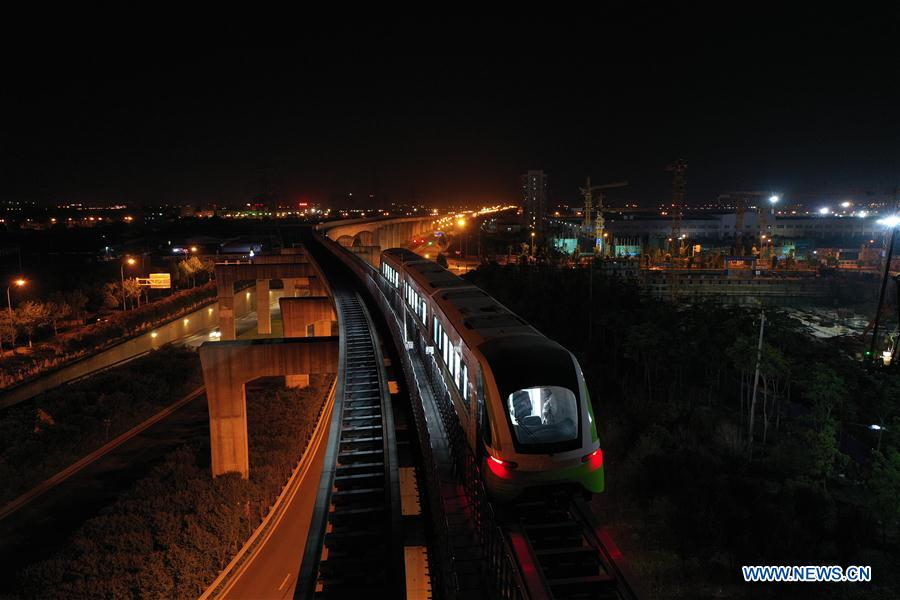 Nueva generación de tren maglev de China pasa prueba de velocidad de 160 kilómetros por hora