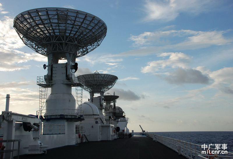 Buque rastreador de naves espaciales Yuanwang-7 de China navega hacia océano Indico