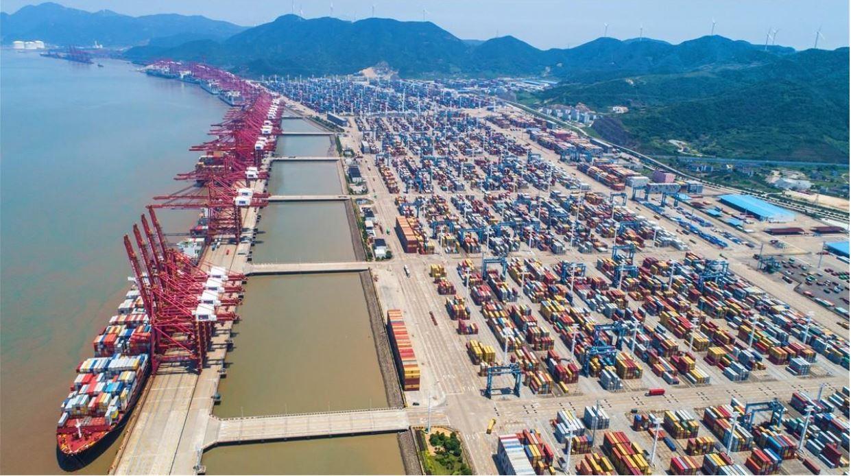 Capacidad de carga en puerto de este de China en 2020 se ubica en primer lugar a nivel mundial