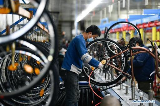 Principales fabricantes de bicicletas de China reportan mayor producción en primer trimestre