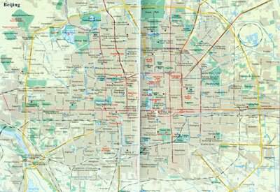 Beijing Maps  Detailed Beijinjg Map  Beijing Travel Map  Beijing     China Beijing Map 1