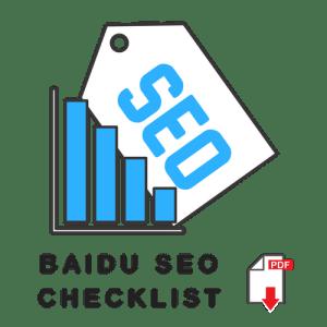 Baidu SEO checklist pdf download
