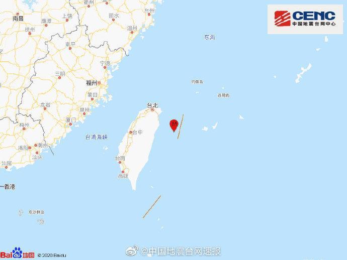 臺灣東部海域發生今年全臺規模最大地震-中新網
