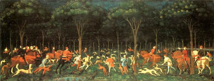 Image result for Uccello's famous Hunt in the Forest