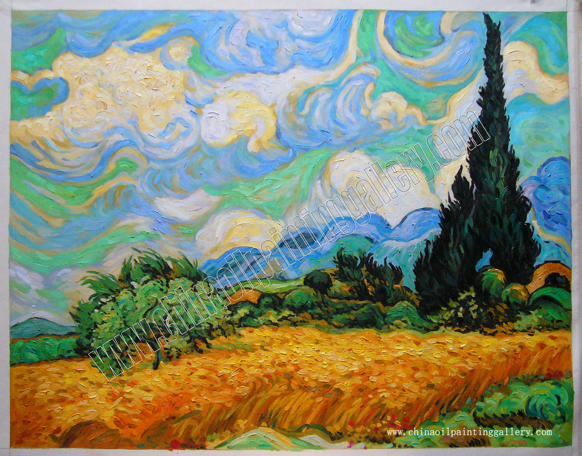 Wheat Field With Cypresses At The Haute Gallinle Near