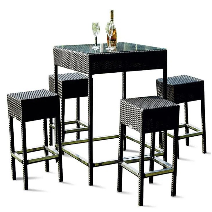 china customized 5 piece high top patio set suppliers manufacturers wholesale cheap 5 piece high top patio set from factory new perfect line co limited