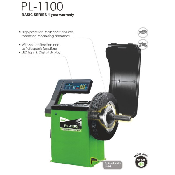 PL-1100 Self-Calibrating Wheel Balancer