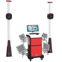 PL-3D-6666 Manual Lift Three Cameras Edition V3D Wheel Alignment Machine