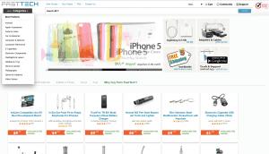 screenshot van de website van fasttech