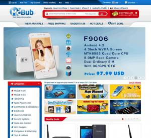 screenshot van de website van mcbub
