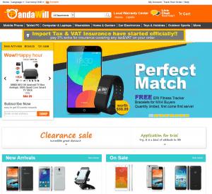 screenshot van de website van pandawill