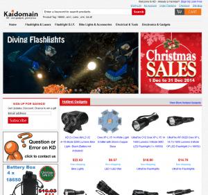 screenshot van de website van kaidomain