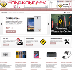 screenshot van de website van hongkonggeek