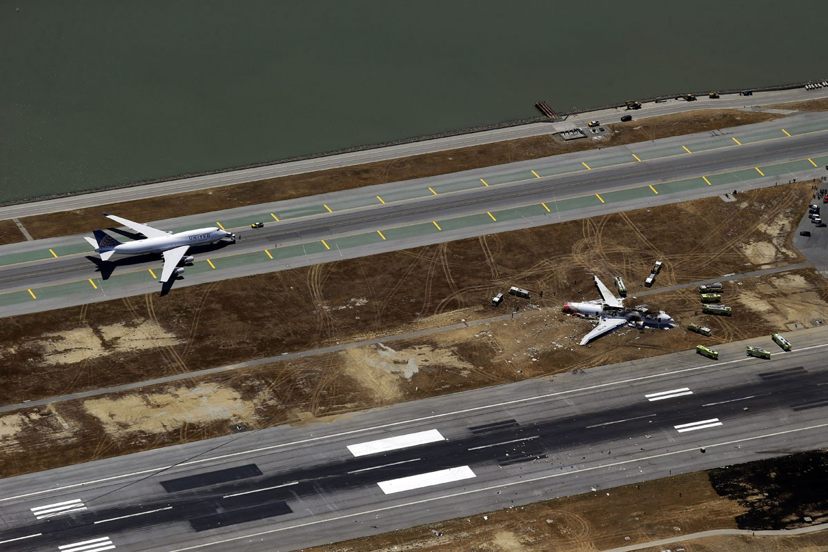 Asiana Airlines Flight 214 San Francisco Crash Chinese