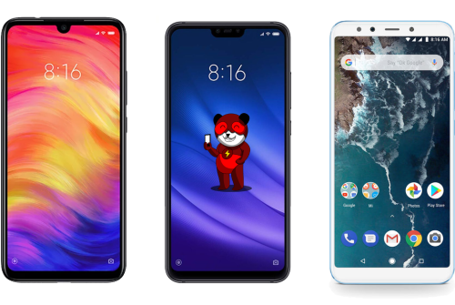 Differenze tra Redmi Note 7, Xiaomi Mi 8 Lite e Xiaomi Mi A2