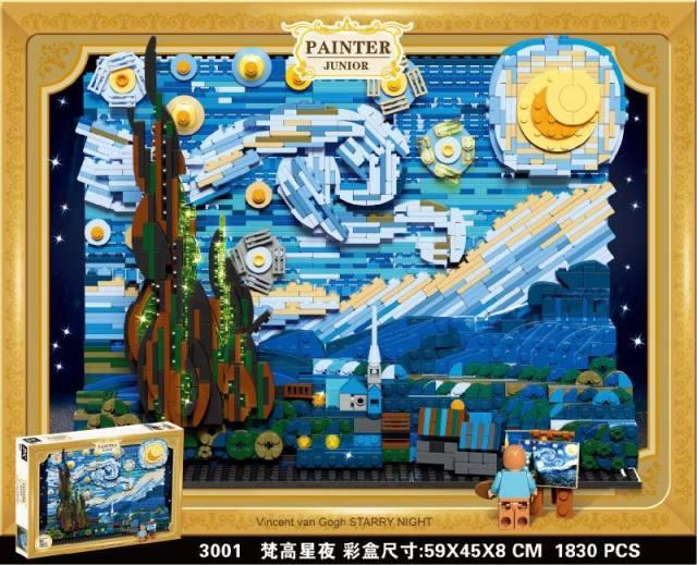 DK 3001 La Notte Stellata Van Gogh Painter Junior Cloni Lego cinesi