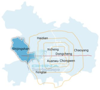 Beijing Shijingshan District Map  Shijingshan District in Beijing Shijingshan District Map