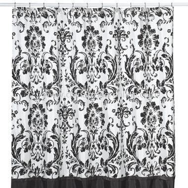 wholesale rosewood black and white shower curtain by nicole miller buy discount rosewood black and white shower curtain by nicole miller made in china cto39824