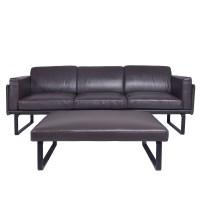 Cassina Sofa   202 OTTO Dark Brown Leather Sofa   Yadea ...