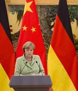 Angela Merkel en Chine