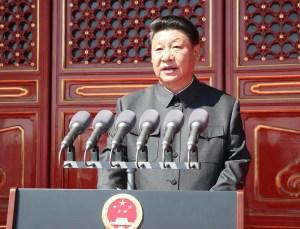 Xi Jinping depuis la place Tian An'men