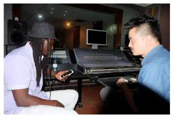 enregistrement de la chanson Ramata au studio bois sacré du Dara J Family Ismael Uj