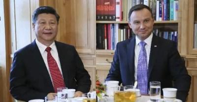Les présidents chinois, Xi Jinping et polonais, Andrzej Duda