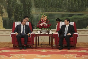 Didier Robert et Xingguo Huang, maire de Tianjin