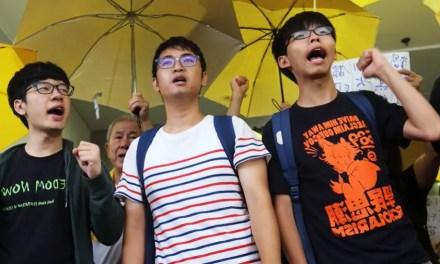 Joshua Wong, Nathan Law et Alex Chow contestent leur condamnation